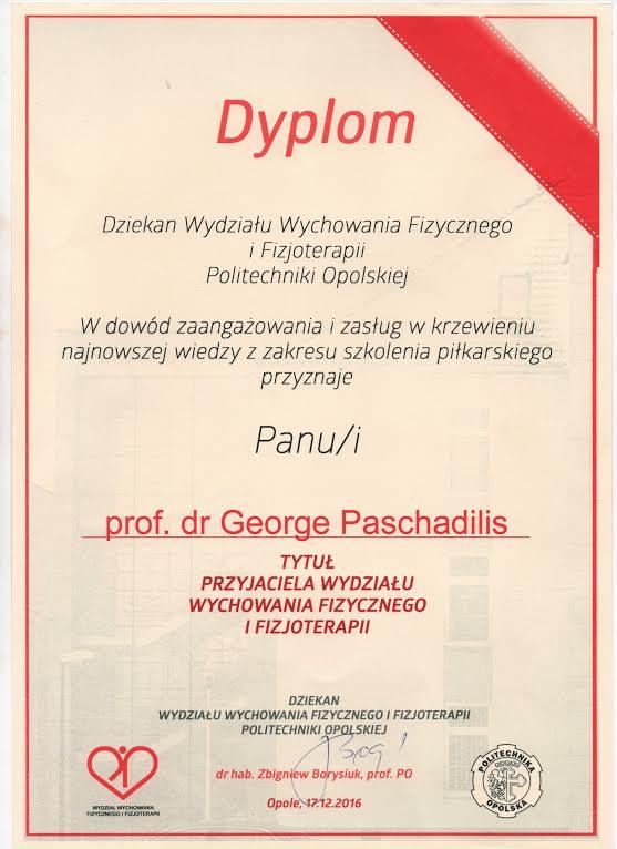 Συνεργάτης του Τμήματος Φυσικής Αγωγής & Φυσικοθεραπείας του Πανεπιστημίου Opole της Πολωνίας